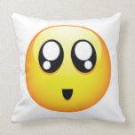 Adorable Emoticon Throw Pillow