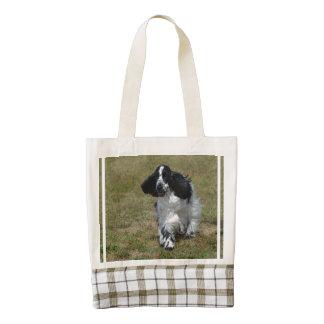 Adorable English Cocker Spaniel Zazzle HEART Tote Bag