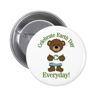 Adorable Environment Bears Earth Day Tees, Gfits Buttons