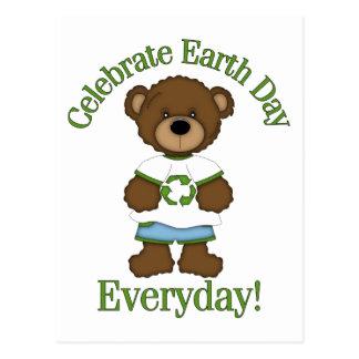 Adorable Environment Bears Earth Day Tees, Gfits Postcard