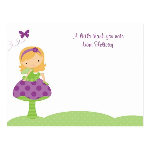 Adorable Fairy Flat Note Cards Postcards