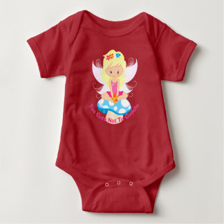 Adorable Fairy on Toadstool Too Cute Not To Cuddle Baby Bodysuit