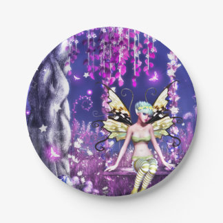 Adorable fairy paper plate