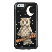 Adorable Feathered Owl Fancy Necklace Moon Stars OtterBox iPhone 6/6s Case