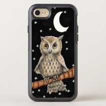 Adorable Feathered Owl Fancy Necklace Moon Stars OtterBox Symmetry iPhone 7 Case
