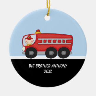 Adorable Firefighter Big Brother Ornament