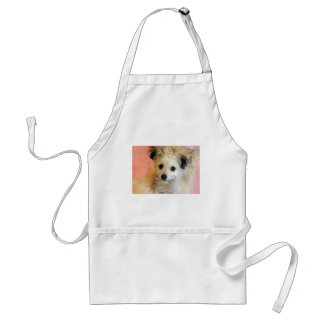 Adorable Floppy Ear Rescue Puppy Adult Apron