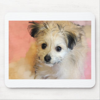 Adorable Floppy Ear Rescue Puppy Mouse Pad