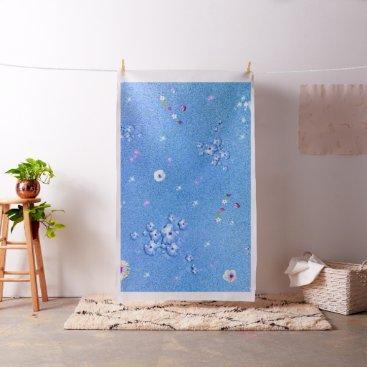 adorable Floral V01 aqua Fabric