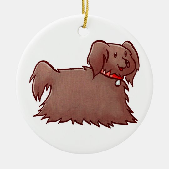 Adorable Fluffy Dog Ornament