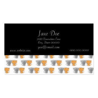 Adorable Fluffy Kittens Illustration Cat Art Double-Sided Standard Business Cards (Pack Of 100)