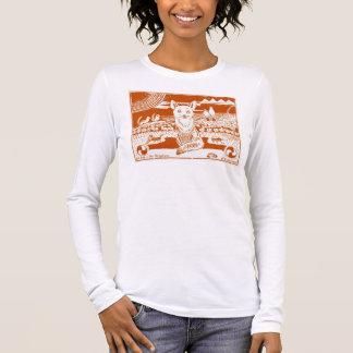 Adorable Fox Art Design Block Print T-shirt
