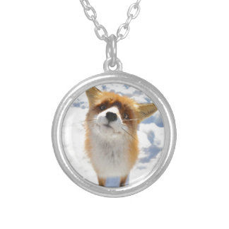 Adorable Fox Round Pendant Necklace