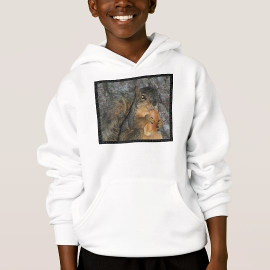 Adorable Fox Squirrel in a Tree Eating a Roll Hoodie