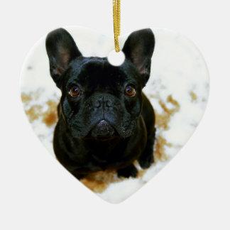 Adorable French Bulldog Puppy! Ceramic Ornament