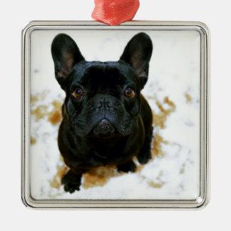 Adorable French Bulldog Puppy! Metal Ornament