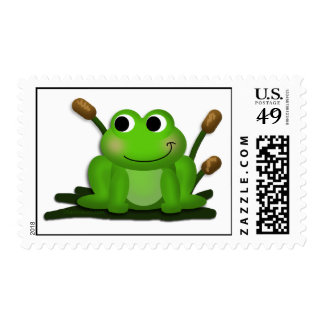 Adorable Froggy Postage Stamps