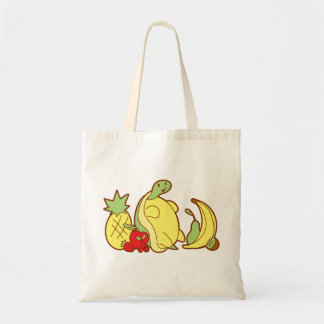 Adorable Fruit Turtle Budget Tote Bag