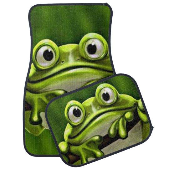 cute car floor mats.  Car Adorable Funny Cute Green Frog In Tree Car And Floor Mats G
