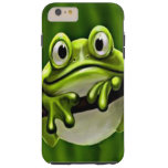 Adorable Funny Cute Green Frog In Tree Tough iPhone 6 Plus Case