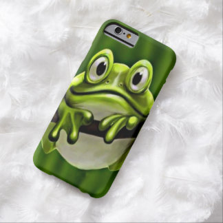 Adorable Funny Cute Smiling Green Frog In Tree Barely There iPhone 6 Case