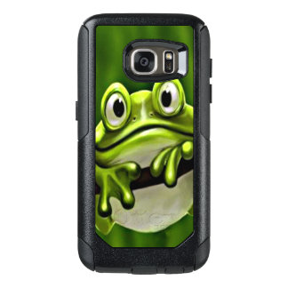 Adorable Funny Cute Smiling Green Frog In Tree OtterBox Samsung Galaxy S7 Case
