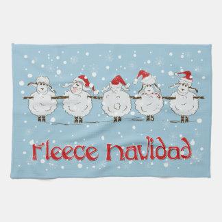 Adorable FUNNY Fleece Navidad Christmas Sheep Hand Towel
