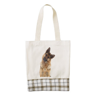 Adorable funny german shepherd portrait zazzle HEART tote bag