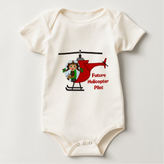 Adorable Future Pilot, Helicopter Pilot  - GIRLS Baby Bodysuit