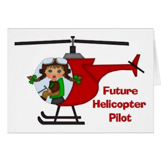 Adorable Future Pilot, Helicopter Pilot  - GIRLS Card
