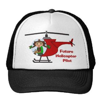 Adorable Future Pilot, Helicopter Pilot  - GIRLS Trucker Hat