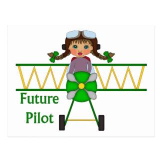 Adorable Future Pilot, Helicopter Pilot  - GIRLS Postcard