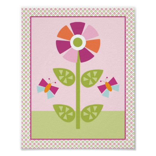 Adorable Garden Babies Nursery Art Poster