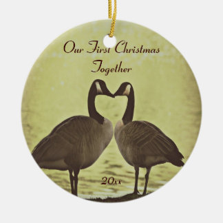 Adorable Geese Our First Christmas Ornament
