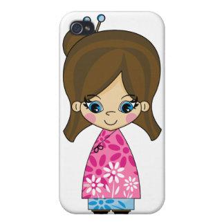 Adorable Geisha Girl iphone 4 Case