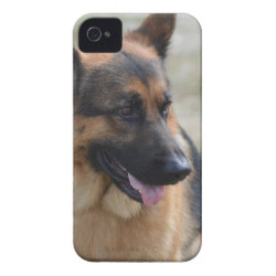 Adorable German Shepherd iPhone 4 Case