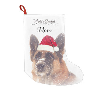 Adorable German Shepherd Christmas Stocking