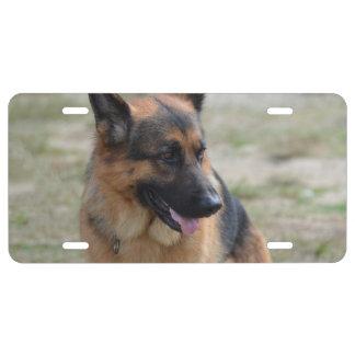 Adorable German Shepherd License Plate