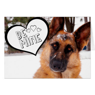 Adorable German Shepherd Valentine's Day Card