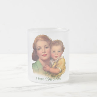 Adorable Gift for Mother's Day Frosted Glass Coffee Mug