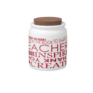Adorable Gift for Teachers Candy Jars