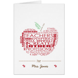 Adorable Gift for Teachers Card