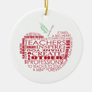 Adorable Gift for Teachers Ceramic Ornament
