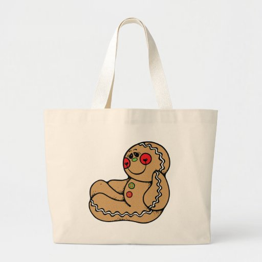 adorable gingerbread man tote bags