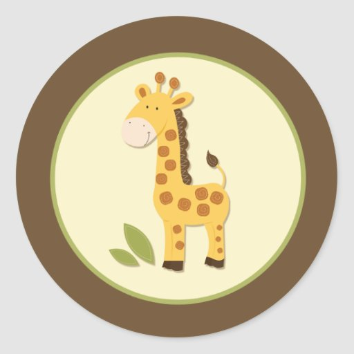 Adorable Giraffe Envelope Seals or Toppers