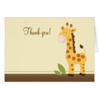 Adorable Giraffe Folded Thank you notes