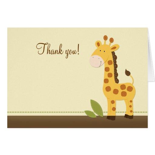 Adorable Giraffe Folded Thank you notes