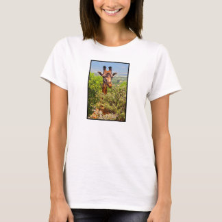 Adorable Giraffe Poking His Head Above The Trees T-Shirt