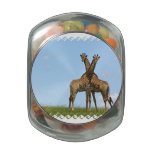 Adorable Giraffes Jelly Belly Candy Jar