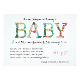 Tea for two invitations zazzle adorable girl baby shower invitation filmwisefo